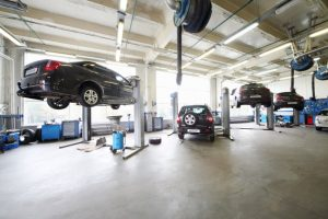 Cars under maintenance